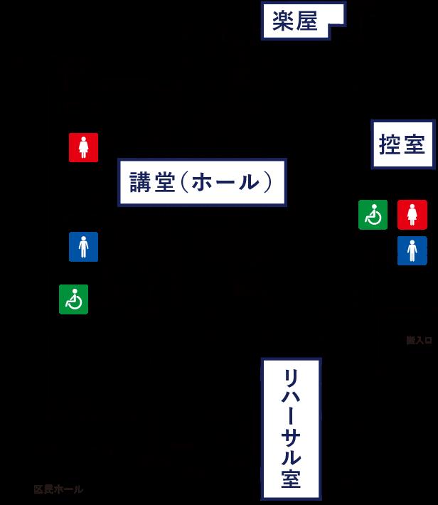 1階フロアの案内図